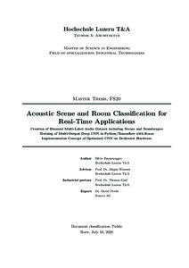 Bild:  Acoustic Scene and Room Classification for Real-Time Applications