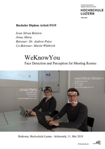 Bild:  Bericht WeKnowYou - Face Detection and Perception for Meeting Rooms
