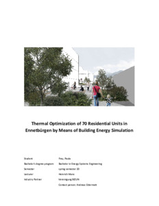 Bild:  Thermal Optimization of 70 Residential Units in Ennetbürgen by Means of Building Energy Simulation
