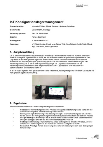 Bild:  Web-Abstract IoT Konsignationslagermanagement