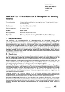 Bild:  Web-Abstract WeKnowYou – Face Detection & Perception for Meeting Rooms