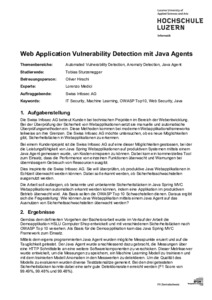 Bild:  Web Abstract - Web Application Vulnerability Detection mit Java Agents