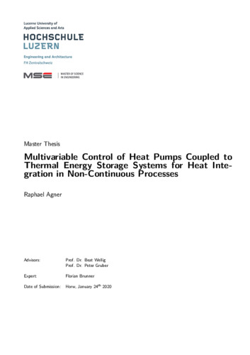 Bild:  Multivariable Control of Heat Pumps Coupled to Thermal Energy Storage Systems for Heat Integration in Non-Continuous Processes