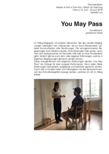 Bild:  You May Pass