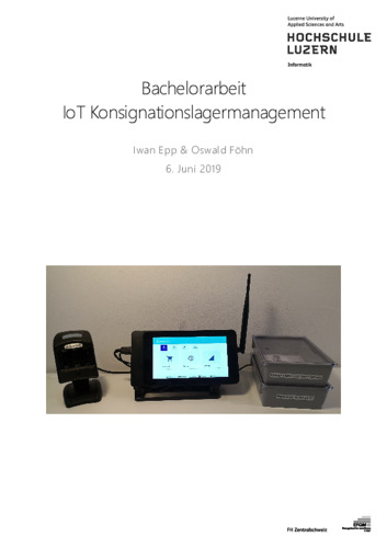 Bild:  Bericht IoT Konsignationslagermanagement